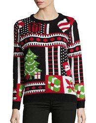 Context Christmas Graphic Sweater Black