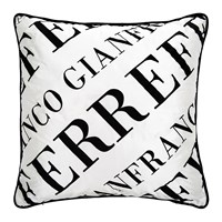 Gianfranco Ferre Logo Cushion Black And White