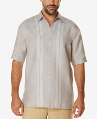 Cubavera Men's Embroidered Dobby Short Sleeve Shirt Fossil