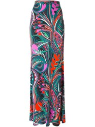 Emilio Pucci Abstract Print Maxi Skirt Multicolour