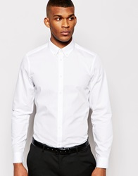 Smart Shirt In Long Sleeve With Button Down Collar White