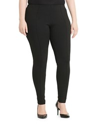 Lauren Ralph Lauren Plus Seamed Ponte Leggings Black