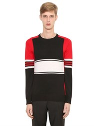 Givenchy Color Blocked Wool Sweater