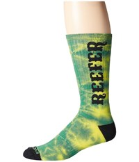 Volcom Token Pine Men's Crew Cut Socks Shoes Green