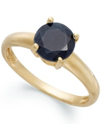 Victoria Townsend 18K Gold Over Sterling Silver Ring Midnight Sapphire September Birthstone Ring 1 5 8 Ct. T.W.