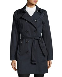 Michael Michael Kors Double Breasted Trench Coat Navy