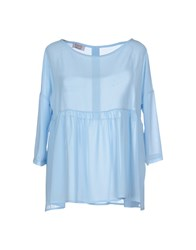 Twenty Easy By Kaos Shirts Blouses Women Sky Blue