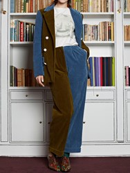 Olympia Le Tan Pants Cecil Corduroy Cotton Brown