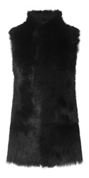 Whistles Sheepskin Gilet Black