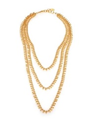 Nest Three Strand Teardrop Chain Necklace Gold