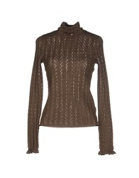 Ralph Lauren Knitwear Turtlenecks Women Dark Brown