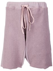 Mr. Completely Drawstring Bermuda Shorts Pink And Purple