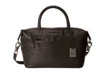 Frye Jenny Satchel Black Soft Vintage Leather Satchel Handbags