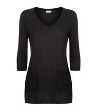 Claudie Pierlot Tunique Lace Pocket T Shirt Female Black