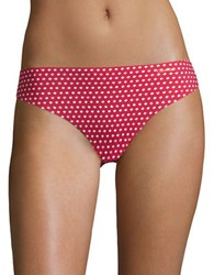 Calvin Klein Invisibles Printed Thong Panty Red Dot