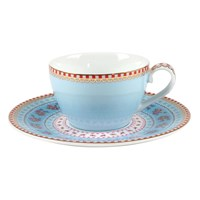 Pip Studio Ribbon Rose Espresso Cup And Saucer Blue