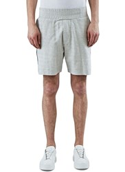 James Long Embroidered Panel Boxer Shorts Grey