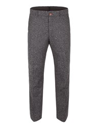 Gibson Men's Charcoal Donegal Fleck Trouser Charcoal