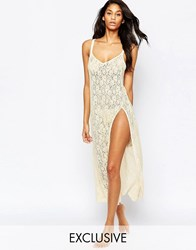 Wolf And Whistle Lace Floor Length Slip White