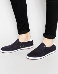 Tommy Hilfiger Harlow Slip On Plimsolls Blue