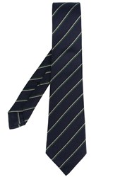 Kiton Striped Tie Green