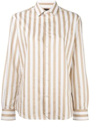 Joseph Striped Button Down Shirt Nude And Neutrals