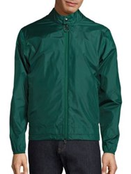 Z Zegna Slim Fit Packable Light Shell Travel Jacket Green