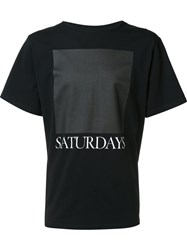 Saturdays Surf Nyc Logo Print T Shirt Black