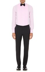 Isaia Men's Pleated Front Dress Shirt Pink
