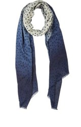 Barneys New York Men's Polka Dot Ombre Scarf Navy