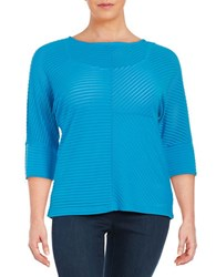 Calvin Klein Plus Zipper Accented Tunic Blue