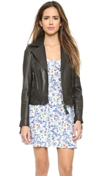 Joie Ailey Leather Jacket Caviar