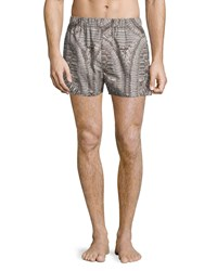 Alexander Mcqueen Bones Printed Boxer Shorts Natural Black Size Small