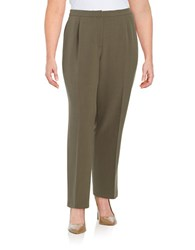 Nipon Boutique Plus Kate Classic Fit Pants Loden Green