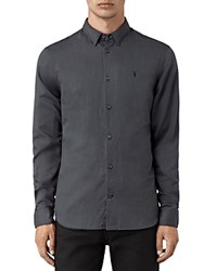 Allsaints Hermosa Slim Fit Button Down Shirt Workers Blue