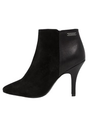 Pepe Jeans High Heeled Ankle Boots Black