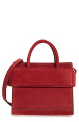 Givenchy Mini Horizon Suede Tote Red Wine