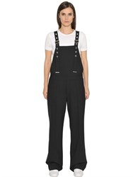 Diesel Black Gold Wool Blend Overalls