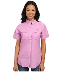 Columbia Bonehead Ii S S Shirt Orchid Women's Short Sleeve Button Up Purple