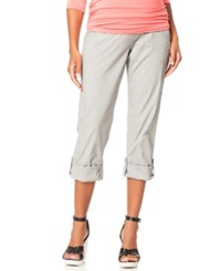 Motherhood Maternity Convertible Cargo Pants Light Grey