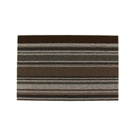 Chilewich Mixed Stripe Shag Rug Oak 46X71cm