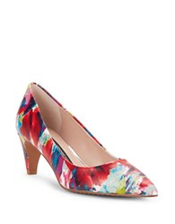 French Connection Korina Leather Pumps Multi Colored