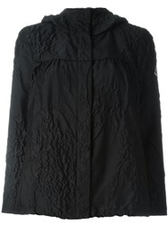 Moncler Gamme Rouge Floral Crease Effect Jacket Black