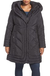 Gallery Plus Size Women's Pillow Collar Quilted Walker Coat