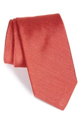 Men's Todd Snyder White Label Solid Silk Tie Coral
