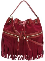 Love Moschino Fringed Crossbody Bag Red