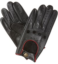 Dents Leather Driving Gloves Black Berry