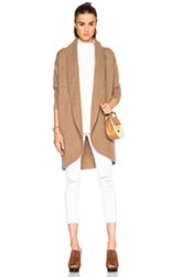 James Perse Boiled Cashmere Sweater Coat In Brown Neutrals