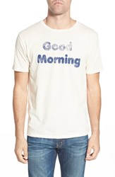 Project Social T 'Good Morning' Graphic Crewneck T Shirt Cream