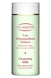 Clarins Cleansing Milk With Alpine Herbs For Normal Dry Skin